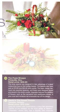 Christmas special featured in Florists Review